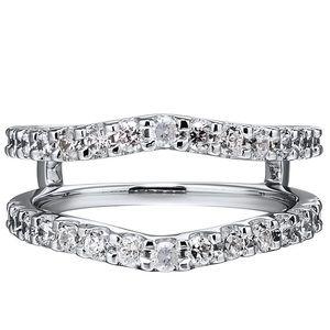 14k Helzberg Diamonds wedding band/enhancer rings